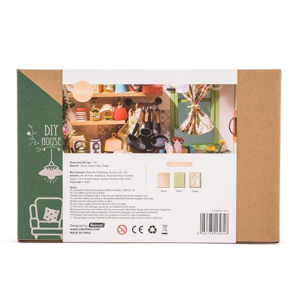 DG105 Robotime ミニチュアハウス ドールハウス ジェイソンキッチン ロボタイム DIY Mini House Jasons Kitchen おもちゃ 組み立てキット ★
