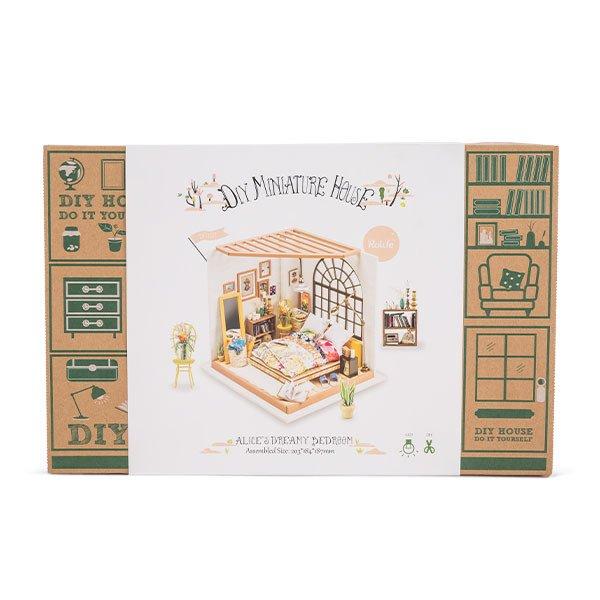 DG107 Robotime ミニチュアハウス ドールハウス ベッドルーム ロボタイム DIY Mini House Alices Dreamy Bedroom おもちゃ 組み立てキット  ★