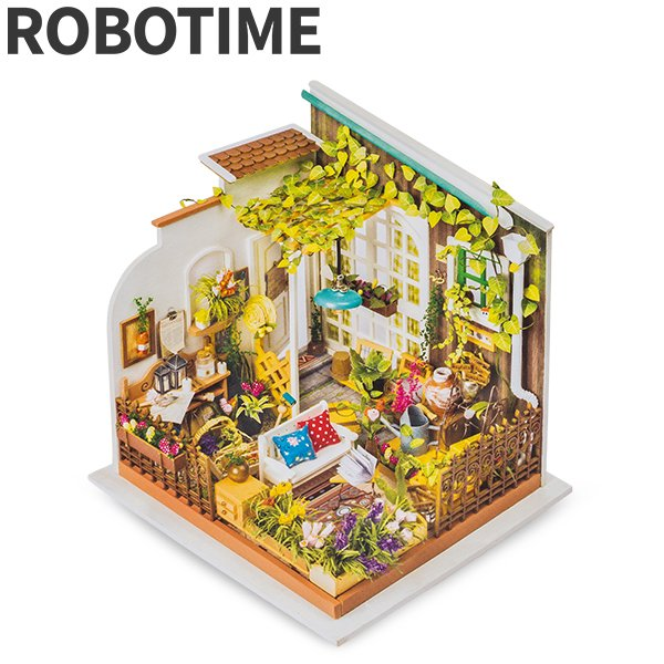 DG108 Robotime ミニチュアハウス ドールハウス ミラーズガーデン ロボタイム DIY Mini House Millers Garden おもちゃ 組み立てキット  ★