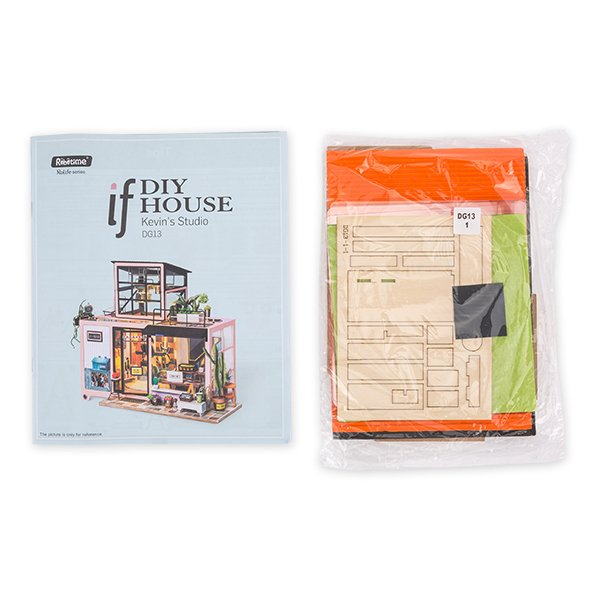 DG13 Robotime ミニチュアハウス ドールハウス ケビンスタジオ ロボタイム DIY Mini House Kevins Studio おもちゃ 組み立てキット  ★