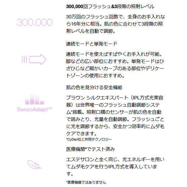 [予約]送料無料(北海道・沖縄・離島除く)■ブラウン IPL方式 光脱毛器 シルク・エキスパート Pro3 PL-3000