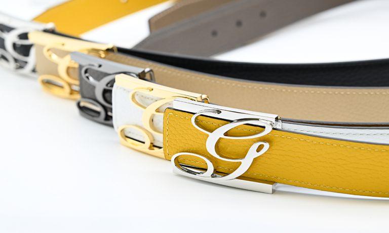 ジョルジオスタメッラ バックルのみ トップ式バックル Gロゴバックル メンズ ブラス100% アルチェ用 幅3.5cm用 FBM GLB1 35 ゴールド 名入れ無料