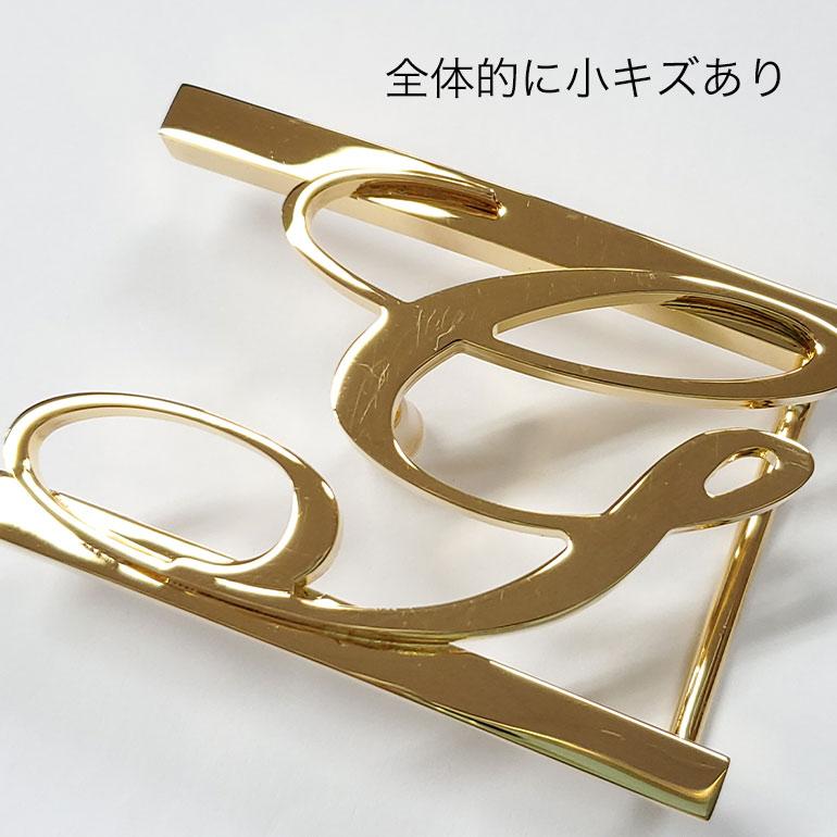 【アウトレット】ジョルジオスタメッラ バックルのみ トップ式バックル Gロゴバックル メンズ レディース ブラス100% アルチェ用 幅3cm用 FBM GLB1 30 ゴールド 保証対象外