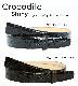 ストリンガ(ズボン用替えベルト) クロコダイルレザー ウエスト約107cmまで推奨 全長ウエスト107cmまで対応 幅3cm