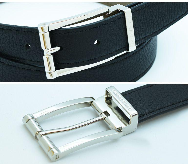 ストリンガ(ズボン用替えベルト) アルチェ 幅3.5cm ネロ×トープ 推奨ウエスト約75cm〜100cmまで
