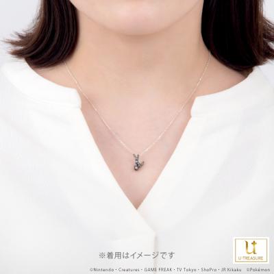 【ポケモン】ブラッキー&モンスターボール(ブラックver.) ネックレス シルバー アクセサリー