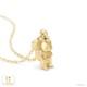 シルバニアファミリー グッズ ネックレス くるみリスの男の子 ネックレス K18イエローゴールド