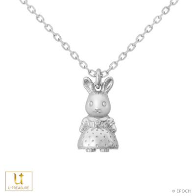 シルバニアファミリー グッズ ネックレス ショコラウサギの女の子 ネックレス K18ホワイトゴールド