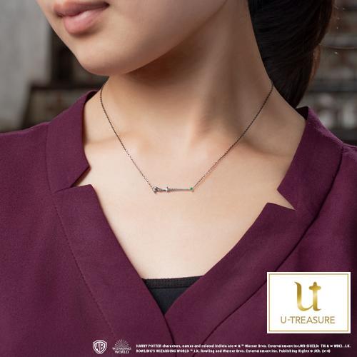 【ハリー・ポッター】ネックレス ヴォルデモート Wand necklace 「Lord Voldemort」 シルバー エメラルド ネックレス【Harry Potter】