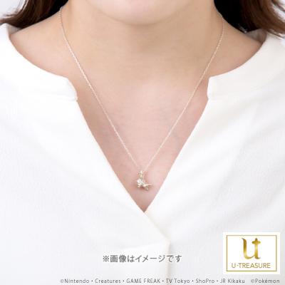 【ポケモン】ワンパチ ネックレス K18ホワイトゴールド ユニセックス 男女兼用 レディース メンズ アクセサリー