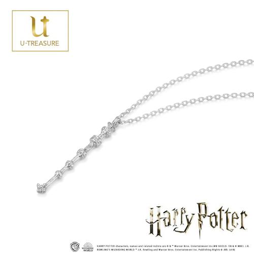 【ハリー・ポッター】 ネックレス  Wand necklace 「the Elder Wand」 K18WG ネックレス【Harry Potter】