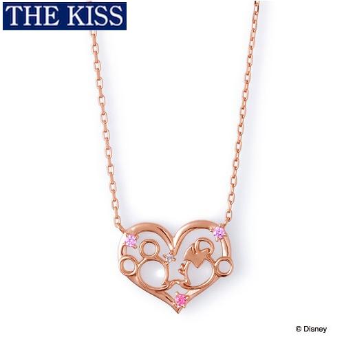 ディズニー ネックレス グッズ ミッキー&ミニー フェイス レディース アクセサリー THE KISS ザキス ザキッス プレゼント