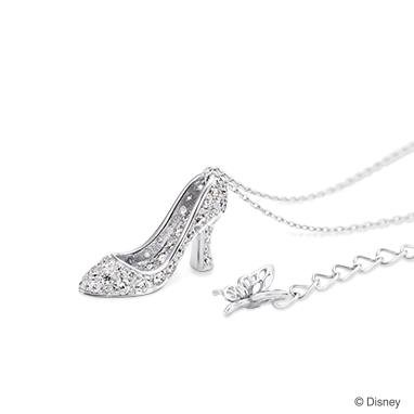 【ディズニー】ケイウノ Cinderella  〜ディズニー映画「シンデレラ」-ネックレス-(ガラスの靴/ダイヤモンド)〜【Disney】