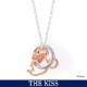 【ディズニー】THE KISS ミニー ミニーマウス フェイスダブルチャーム ネックレス レディース 単品【Disney】