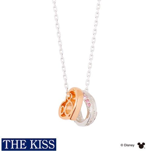 【ディズニー】THE KISS ミッキーマウス 隠れミッキー ネックレス DI-SN1839DM 【Disney】