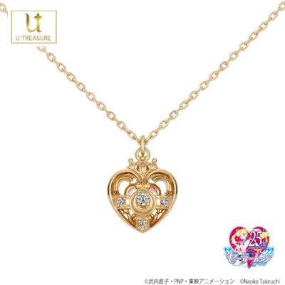 【美少女戦士セーラームーン】セーラームーン ネックレス Cosmic Heart Necklace シルバー(イエローゴールドコーティング)【SAILOR MOON】