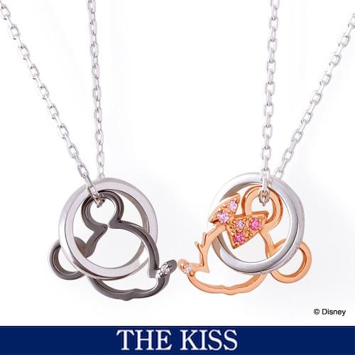 ディズニー ネックレス グッズ ミッキー&ミニー フェイスダブルチャーム アクセサリー THE KISS ザキス ザキッス プレゼント DI-SN1202DM-1203DM