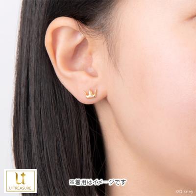 【キングダム ハーツ】ソラ クラウン / ピアス K18ピンクゴールド 片耳(0.5セット) メンズ レディース