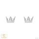 【キングダム ハーツ】ソラ クラウン / ピアス K18ホワイトゴールド 片耳(0.5セット) メンズ レディース