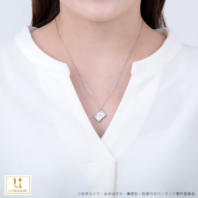 【約束のネバーランド】ブックネックレス エマ シルバー