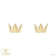 【キングダム ハーツ】ソラ クラウン / ピアス K18イエローゴールド 片耳(0.5セット) メンズ レディース