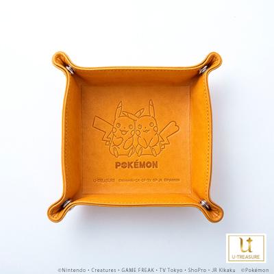 【ポケモン】「ピカチュウ」 レザートレイ キャメル