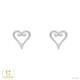 【キングダム ハーツ】ハート / ピアス K18ホワイトゴールド 片耳(0.5セット) メンズ レディース