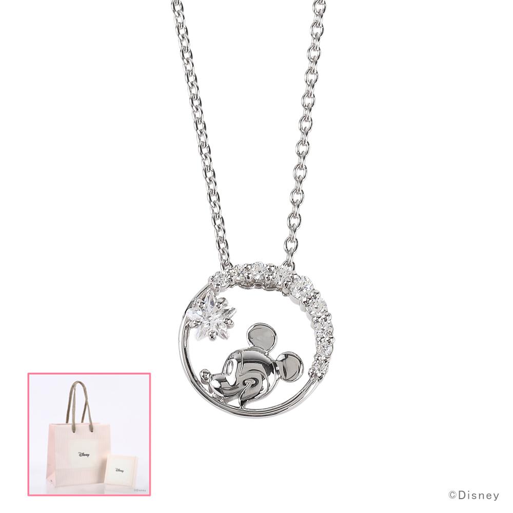 ディズニー ネックレス Disney ミッキーマウス シルバー アクセサリー レディース ペンダント ネックレス