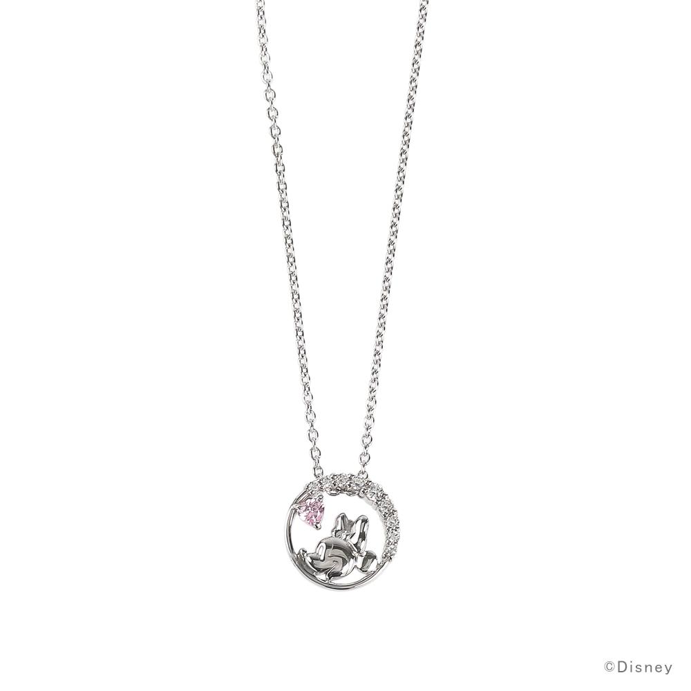 ディズニー ネックレス Disney ミニーマウス シルバー アクセサリー レディース ペンダント ネックレス