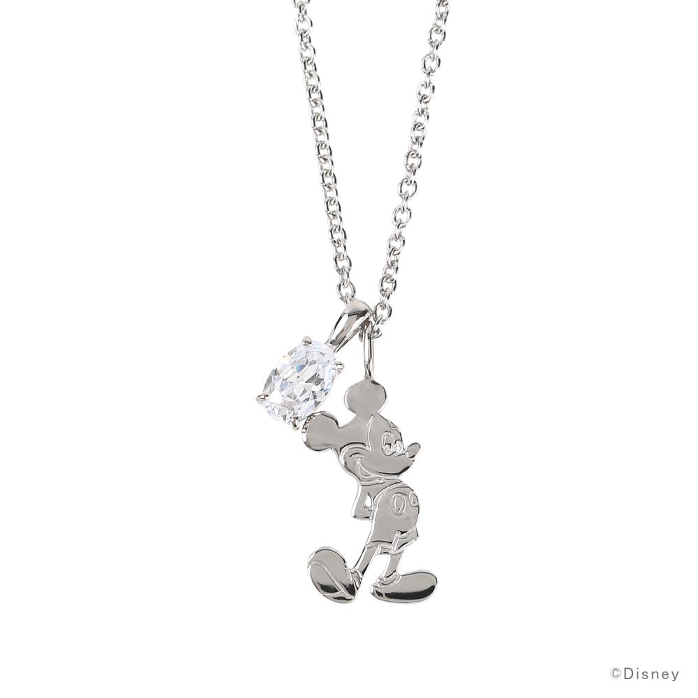 【ディズニー】ミッキーマウス ネックレス シルバー レディース VPCDS20167【Disney】