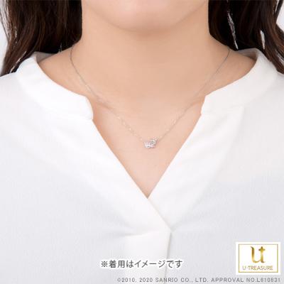 【ウィッシュミーメル】 K18ピンクゴールドネックレス アクセサリー【Wish me mell】