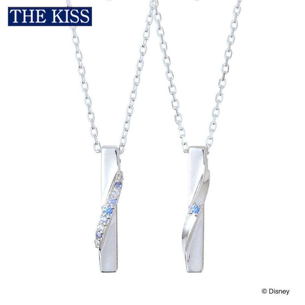 ディズニー アナ雪 ペアネックレス ディズニープリンセス アナと雪の女王 FROZEN ペアグッズ ペアアクセサリー Disney THE KISS ザキス ザキッス プレゼント 誕生日 記念日 DI-SN1851CB-1852CB