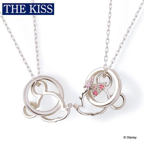 【ディズニー】THE KISS ミッキー&ミニー ペアネックレス DI-SN1213DM-1214DM 【Disney】