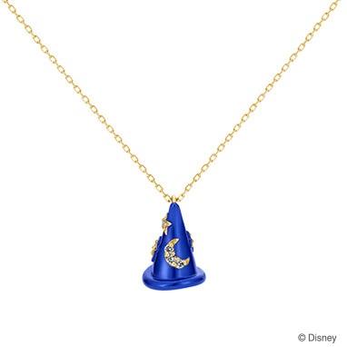 【ディズニー】ケイウノ FANTASIA  〜ファンタジア-ネックレス-(帽子/ダイヤモンド)〜【Disney】