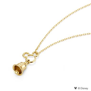 【ディズニー】ケイウノ Happiness bell  〜ハピネスベル -ミッキーマウス-〜 ネックレス【Disney】