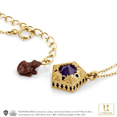 【ハリー・ポッター】 ネックレス カエルチョコレート Chocolate Frog Necklace シルバー(イエローゴールドコーティング)【Harry Potter】