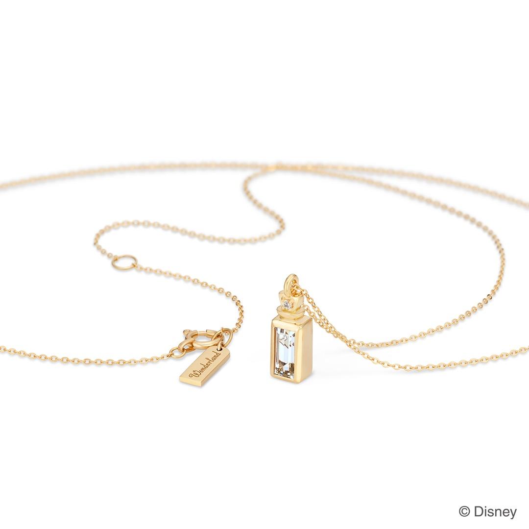 【ディズニー】ケイウノ『ふしぎの国のアリス』 ネックレス / Little Bottle / Disney K18ゴールド【Disney】