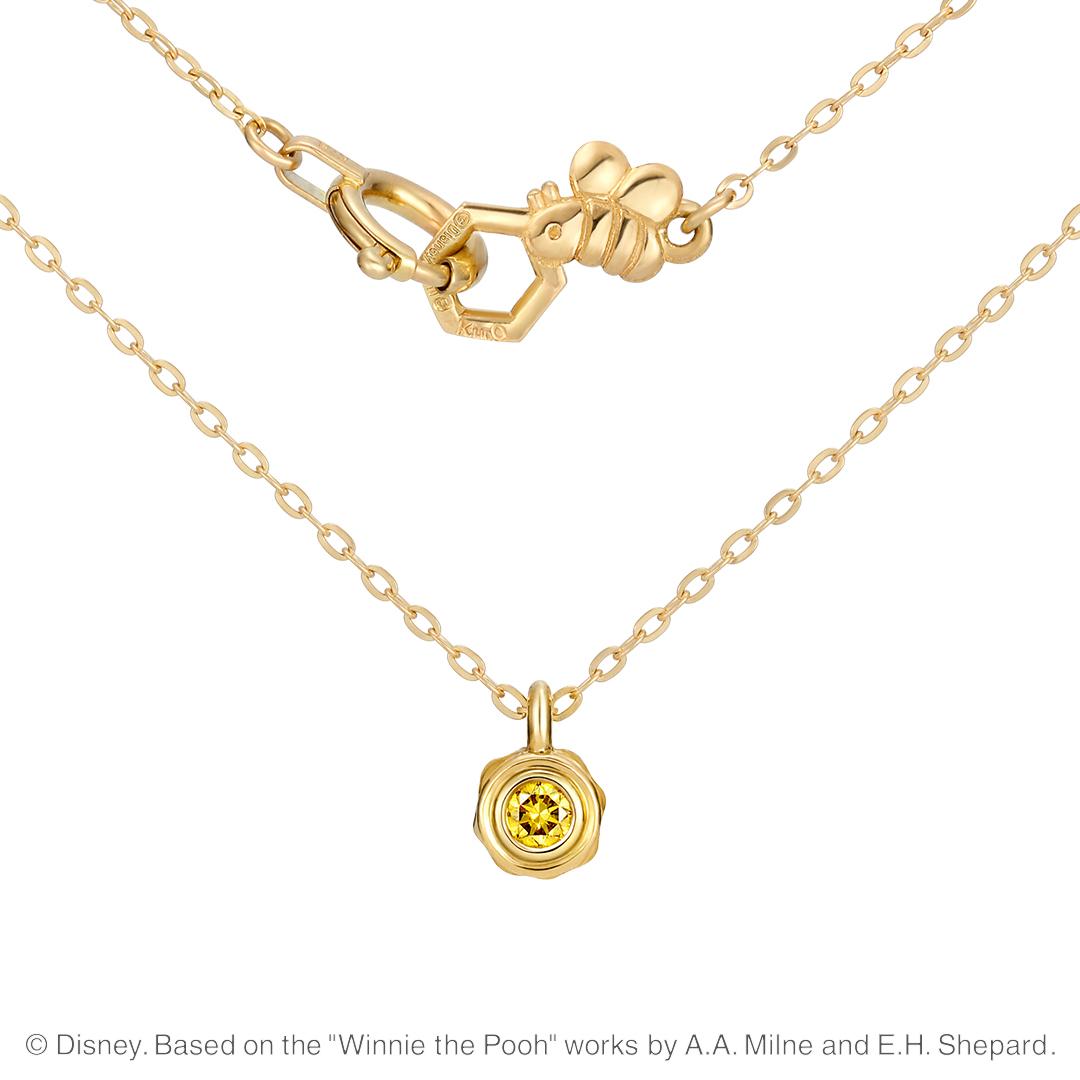 【ディズニー】ケイウノ 『くまのプーさん』 ネックレス / Time for Honey / Disney 『くまのプーさん』 はちみつ壺【Disney】