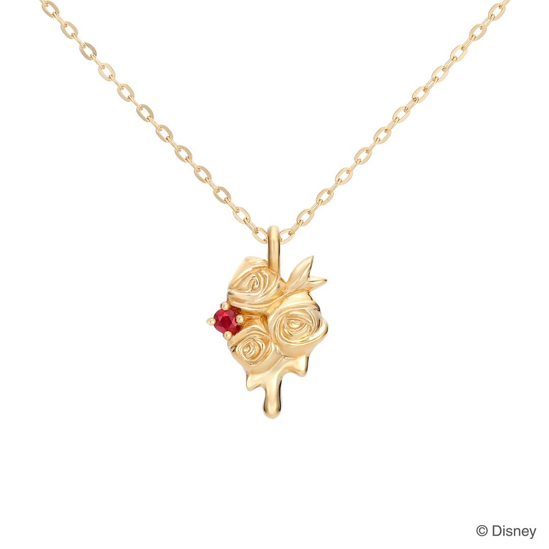 【ディズニー】ケイウノ『ふしぎの国のアリス』 ネックレス / Red Roses / Disney K18ゴールド【Disney】