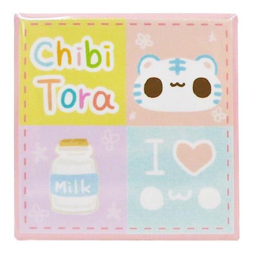 チビトラ STORE限定 40mm四角形マグネット1 I Love Milk