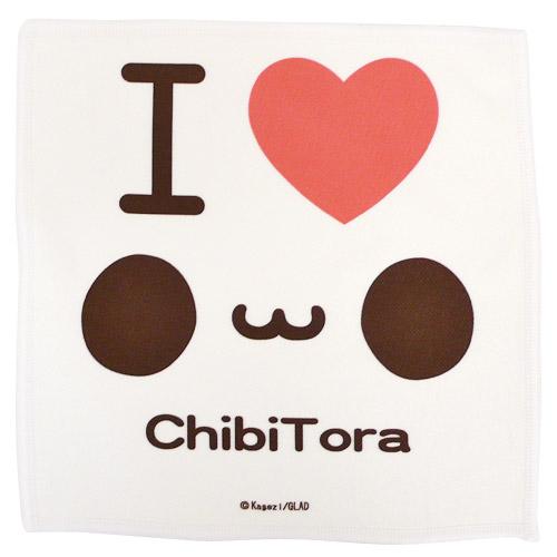 チビトラ STORE限定 マイクロファイバーミニタオル(I LOVE ChibiTora)
