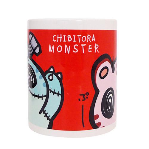 チビトラ STORE限定 MONSTER マグカップ RED(描き下ろし限定缶バッチ付き)