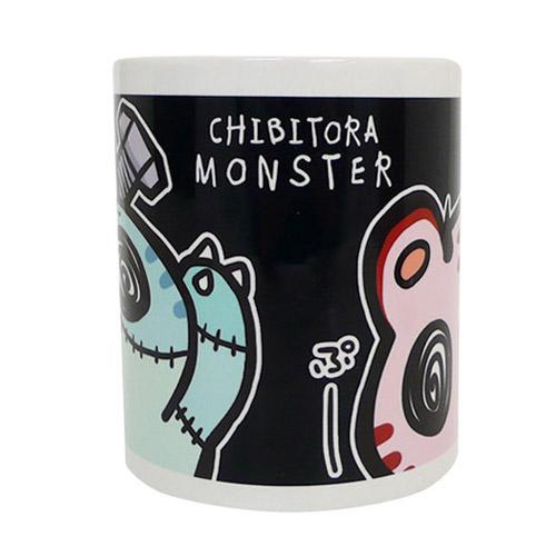 チビトラ STORE限定 MONSTER マグカップ BLACK(描き下ろし限定缶バッチ付き)