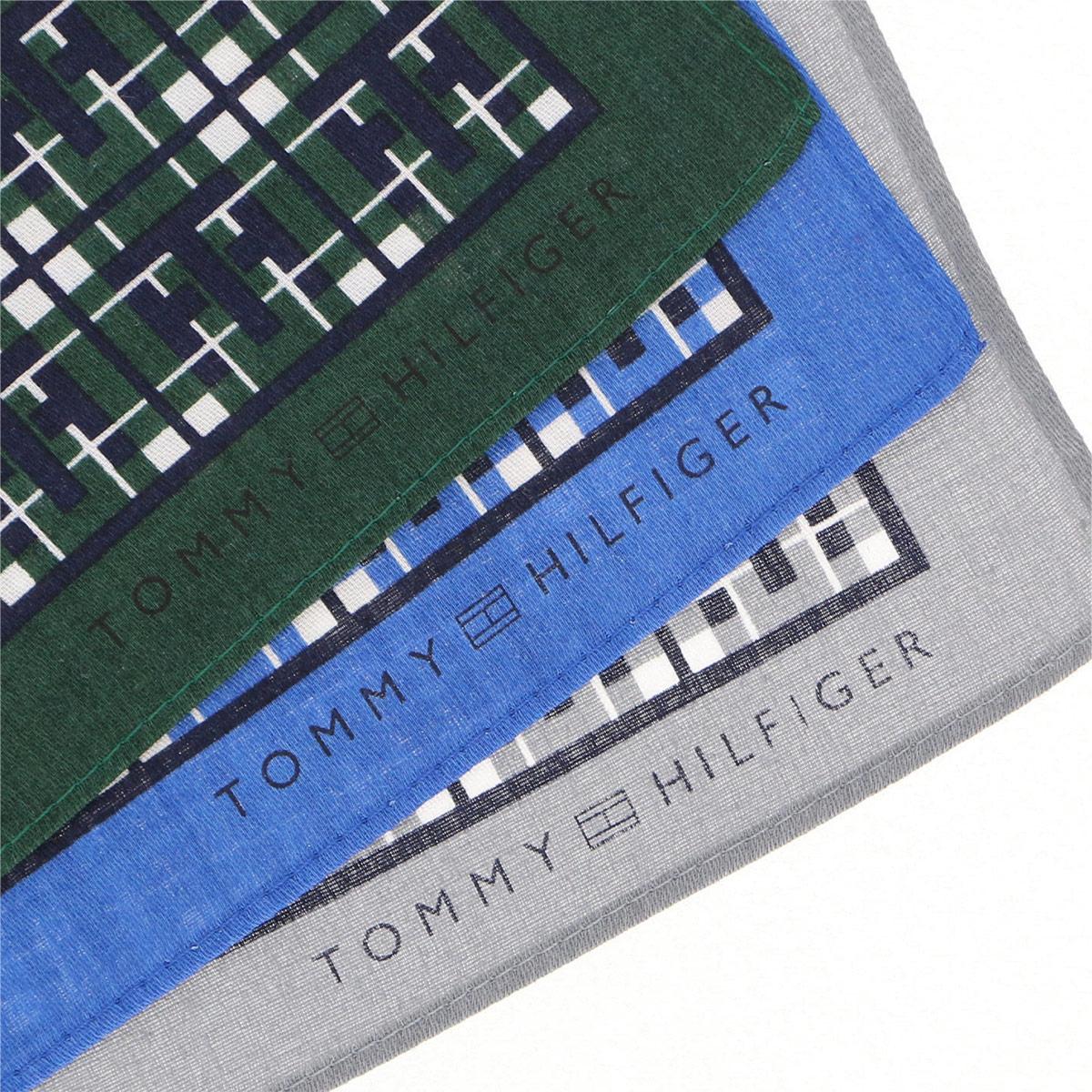 TOMMY HILFIGER|トミーヒルフィガー  ブランド ラッピングOK チェック柄 綿100% ハンカチ 男性 紳士 メンズ プレゼント 贈答 ギフト 入学祝 就職祝 2582-149【ゆうパケット・4点まで】