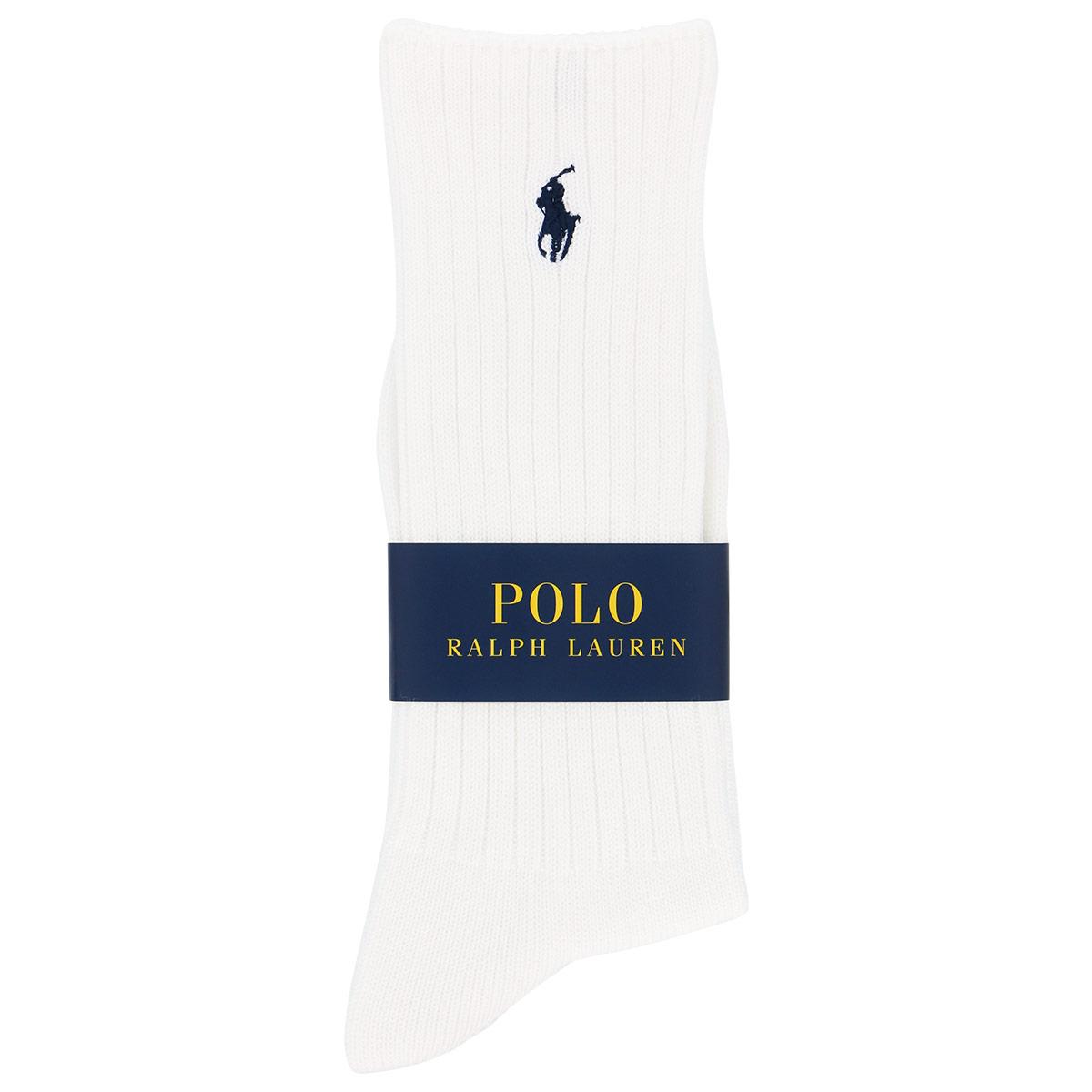 POLO RALPH LAUREN ポロ ラルフローレン 日本製 カジュアル 綿ウール混 ローゲージリブ クルー丈 メンズ ソックス 02012776【ゆうパケット・2点まで】