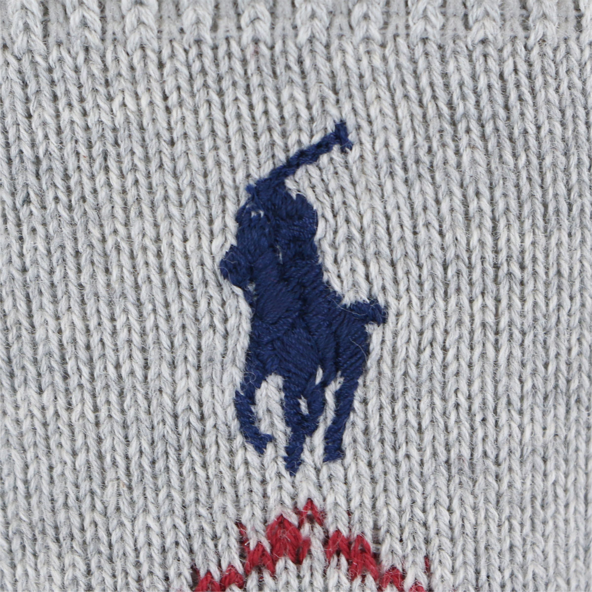 POLO RALPH LAUREN ポロ ラルフローレン キッズ カジュアル クルー ソックス 綿混 ワンポイント刺繍 アーガイル柄 4865-440