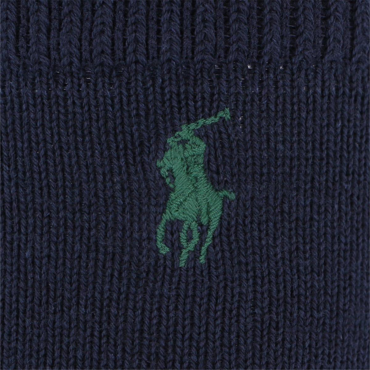POLO RALPH LAUREN ポロ ラルフローレン|キッズ カジュアル ハイ ソックス|綿混 ワンポイント刺繍 アーガイル柄|4875-440