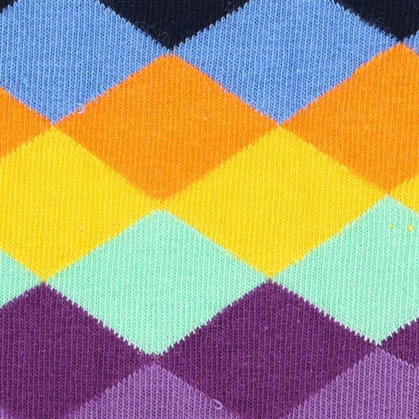 セール!Happy Socks ハッピーソックス FADED DIAMOND ( フェイディド ダイヤモンド) クルー丈 綿混 ソックス 靴下 ユニセックス メンズ  10113010【ゆうパケット・4点まで】