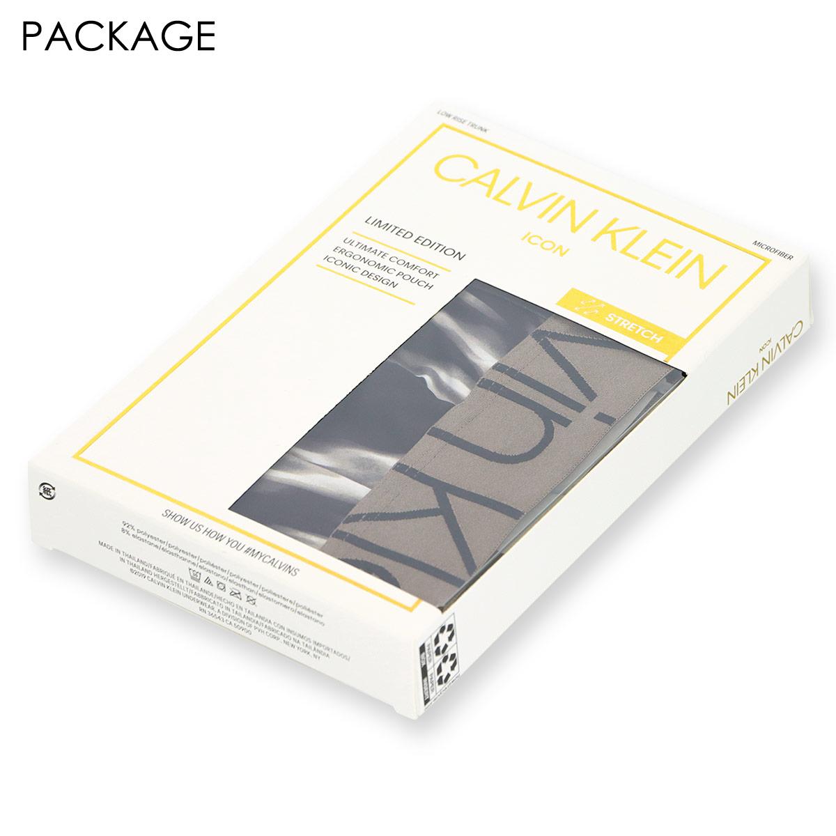 Calvin Klein カルバンクライン NB2543 ICON LTE PRINT MICRO LOW RISE TRUNK アイコン リミテッド マイクロ ローライズ ボクサーパンツ 男性 メンズ 53602543【ゆうパケット・2点まで】