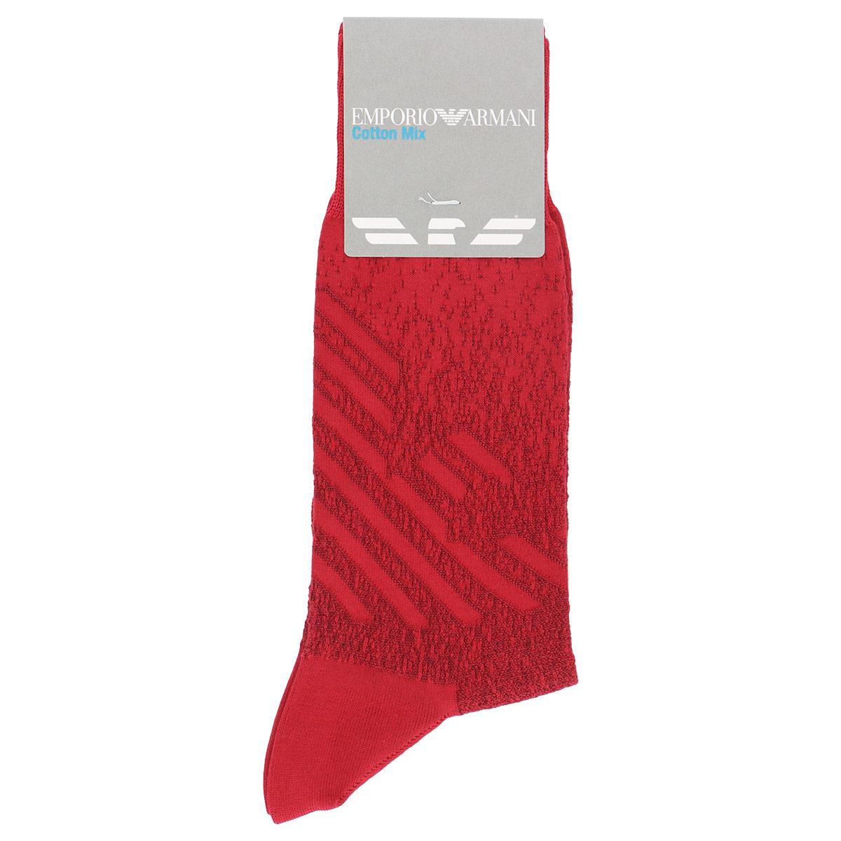 EMPORIO ARMANI ( エンポリオ アルマーニ ) カジュアル BIGイーグルリンクス スーピマ綿使用 メンズ 男性 紳士 ソックス 靴下 プレゼント 贈答 ギフト 2342-329【ゆうパケット・4点まで】